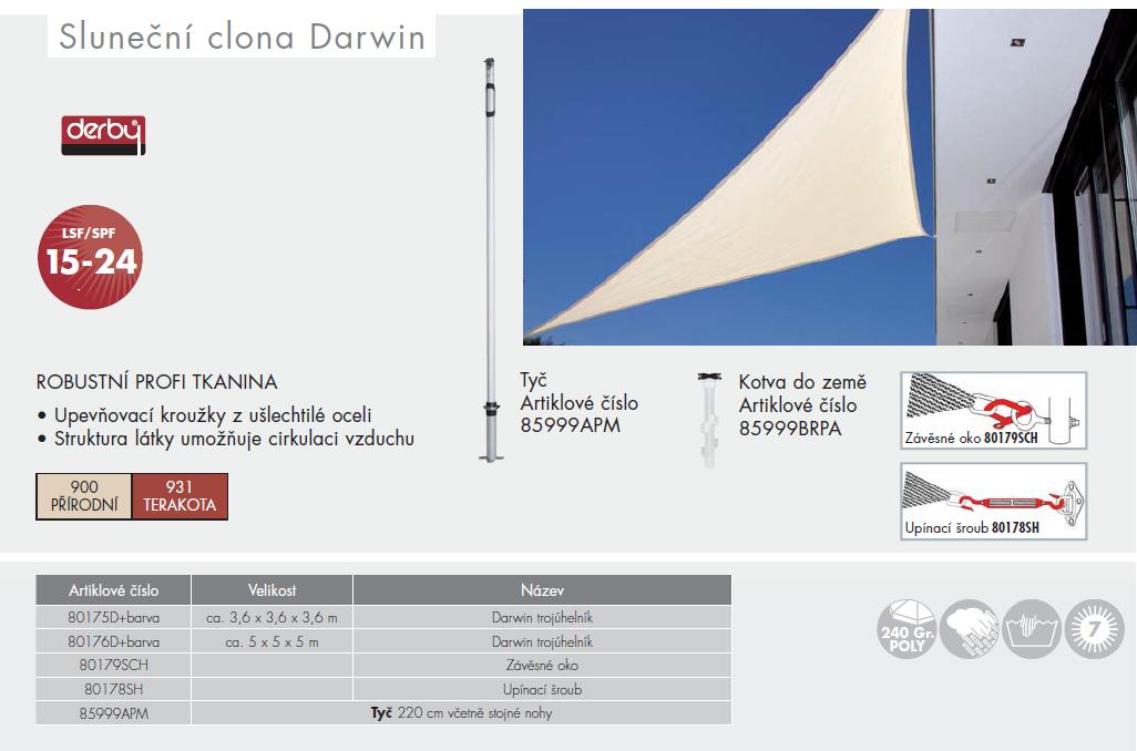 Sluneční clona Darwin trojúhelník 5x5x5 Doppler