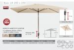 Slunečník Basic Lift 200x250 Doppler