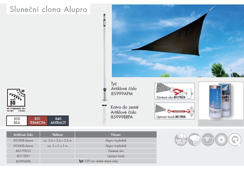 Sluneční clona AluPro trojúhelník 5x5x5 Doppler