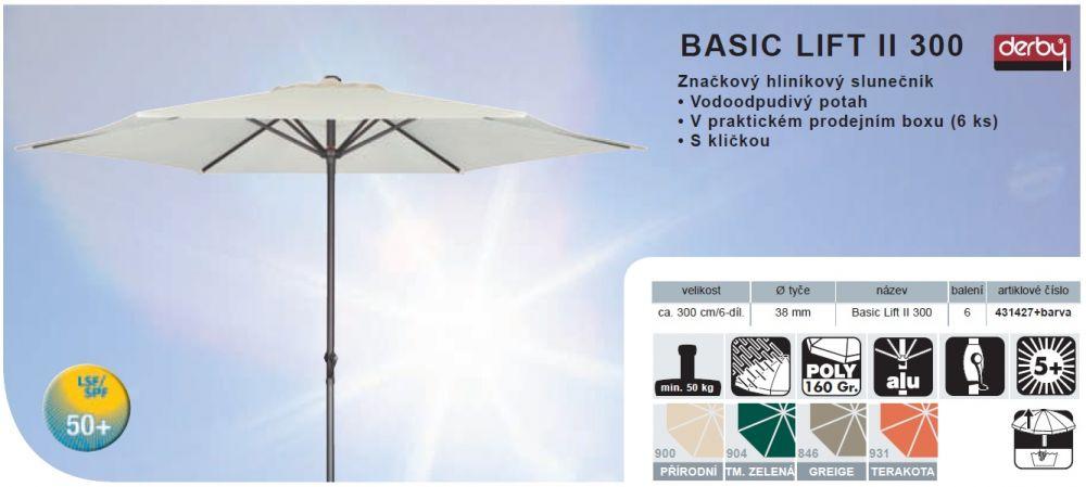 Slunečník Basic Lift II 300 DERBY